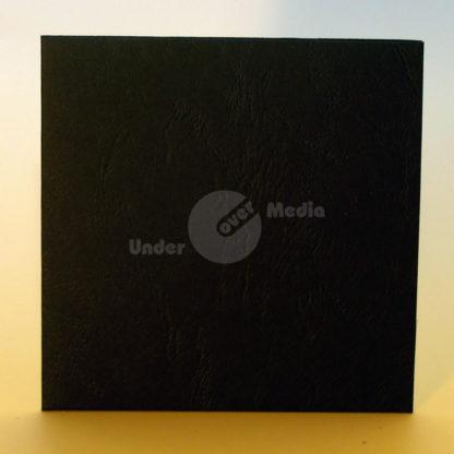 Kartonstecktasche schwarz marmoriert