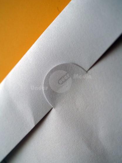Papiertütchen Daumenstanzung weiß